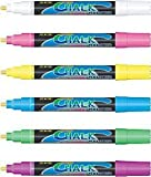 Pack Of 6 Assorted Colours Fluorescent Window Marker Pens