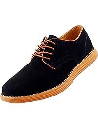 Gleader NUEVOS zapatos de gamuza de cuero de estilo europeo oxfords de los hombres casuales 999 Gris(tamano 43) rUmI2
