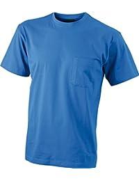 JAMES & NICHOLSON Tee-shirt avec poche poitrine