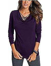 Top Basic Shirt 3//4 Arm lila-grau gestreift Sheego Gr 48//50