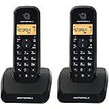 Motorola S1202 Duo - Teléfono fijo inalámbrico, color negro