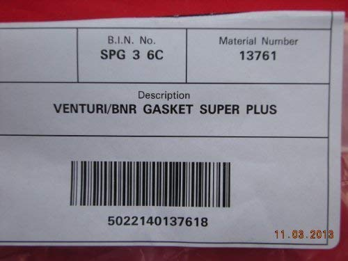 Ideal Super Plus 200/S 300/3 400/4 500/5 & 600/6 Atmosphärischer Zu Brenner Dichtung 013761 - Venturi Dichtung