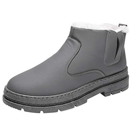 LuckyGirls Chaussures Hiver Fourrées Hommes Femmes Enfants, Bottines de Neige Plates Montantes Baskets Sneakers avec Intérieur Fourrure Chaude Chaussures de Ville Boots Confortable 39-44