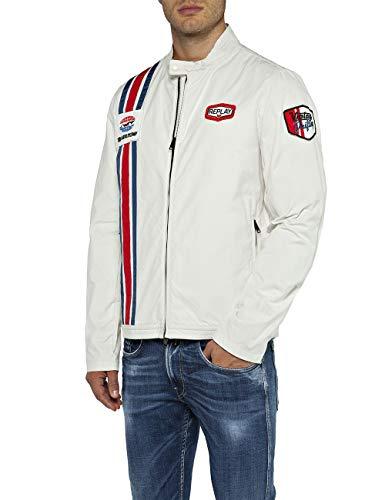 Replay Herren M8976 .000.82990 Jacke, Weiß (Natural White 11), Medium (Herstellergröße: M) -