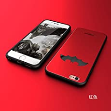 BANSKEY Batman ; Ironman & Superman trasparente in poliuretano termoplastico per iPhone-Cover per Apple iPhone 5, 5S, 5C, 6/6S , 6+,7 (iphone 7, Red)
