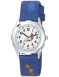 Esprit - ES105224011 - Grafitti - Montre Garçon - Quartz Analogique - Cadran Blanc - Bracelet Nylon Bleu