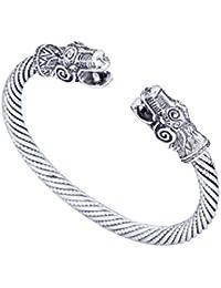 Pulsera de plata envejecida Dragon Viking pulseras & Carter amor pulsera Pagan joyas accesorios