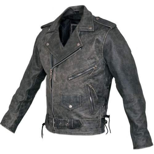 Australian Bikers Gear Vintage Retro Distressed Antik Leder Harley Motorrad Jacke CE Rüstung (3x l 116,8cm-116cm)