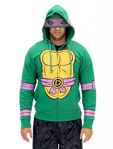 Kostüm Turtle Ninja Hoodie - Teenage Mutant Ninja Turtles I Am Donatello Kostüm Zip Hoodie (Medium)