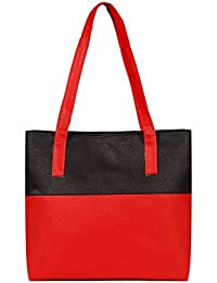 Borse Women/Ladies & Girls Bright Red Shoulder Bag - Women's Everyday Casual & Stylish/Fashionable & Versatile Hand bags - Gift for Mothers Day, Friend/Girlfriend & Wife
