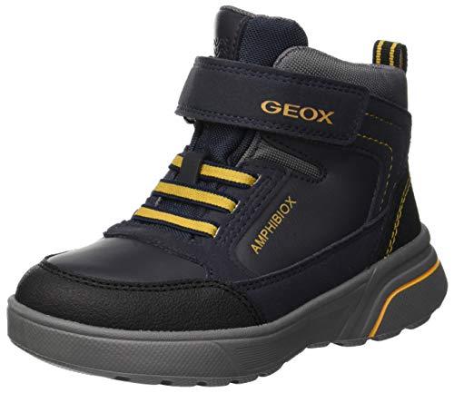 Geox Jungen J SVEGGEN Boy B ABX B Klassische Stiefel, Blau (Navy/Yellow C0657), 28 EU