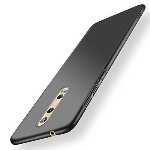 anccer Kompatibel mit Nokia 8 Hülle, [Serie Matte] Elastische Schockabsorption und Ultra Thin Design-Glattes Schwarzes