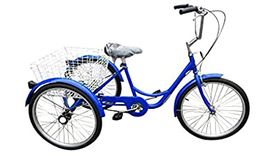 """Ultimate Hardware Freedom Adults 20"""" Wheel 6 Speed Cargo Trike Tricycle Blue"""