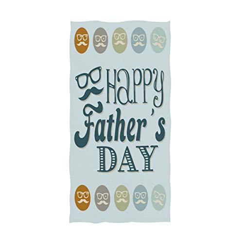 Happy Father's Day Handtücher 76,2 x 38,1 cm, Brille Schnurrbart Vatertag Bad Badezimmer Duschtücher Mehrzwecktücher sehr saugfähig für Bad, Hand, Gesicht, Fitnessstudio, Spa 30x15in Father day - Fitnessstudio Brille