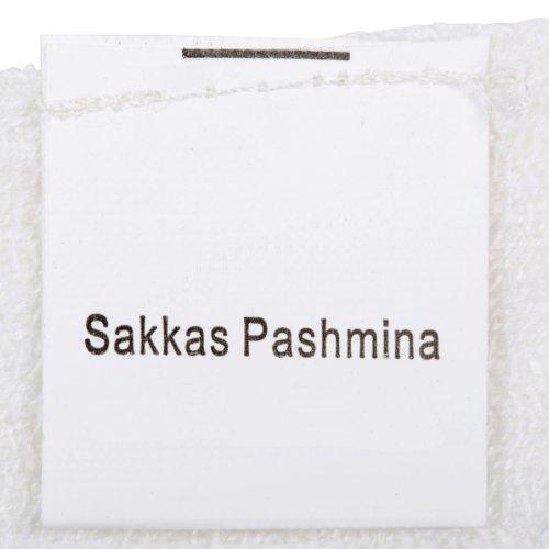 Sakkas 178cm x 71cm Dessins bordures Double épaisseur Type Tissé Pashmina Châle / Echarpe / Etole (20+ Couleurs) Turquoise