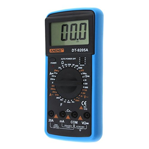 Multimeter Digital, Hunpta@ Digital DT-9205A Multimeter LCD AC/DC Amperemeter Widerstand Kapazität Tester (Blau)