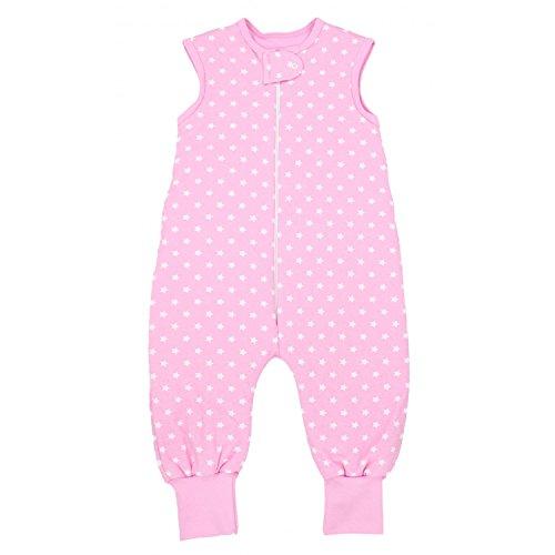 TupTam Baby Unisex Winter Schlafsack mit Beinen, Farbe: Sternchen Rosa/Weiß, Größe: 92-98