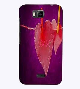 PrintVisa Romantic Love 3D Hard Polycarbonate Designer Back Case Cover for Huawei Honor Bee