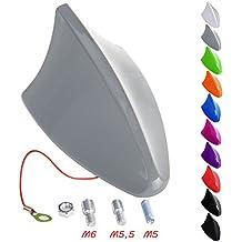 Woltu 160 - Antena AM/FM universal para coche con diseño de tiburón (brillante), color a elegir