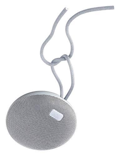 AQL - Alto-falante portátil Bluetooth Plump, altamente resistente à água com Ipx 7, com microfone para chamadas e desligar e cabo, Cor: branco