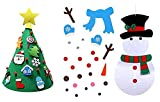 Doolland 3ft Artificiale Albero di Natale Facile Assemblaggio, 3D Stand Felt Tree con 18psc Gadget Decorativo per Vacanze di Natale Indoor Outdoor Decoration