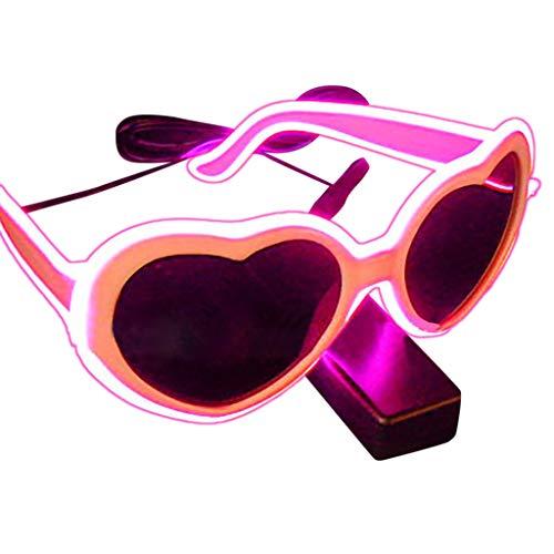 Makefortune 2022 EL Draht Neon Wire Cool Leuchtbrille Partybrille Club LED Brille für Masquerade...