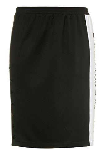 Ulla Popken Femme Grandes tailles | Jupe 3/4 en coton imprimé | 713471 Noir