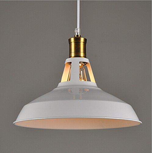 Hahaemall Moderner hängender Lampenschirm, Metall, für Balkon/ Lagerhalle, Weiß (Metall Outdoor-lagerhalle)