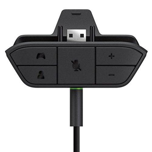 Wokee Kunststoff Stereo Advanced Audio Adapter Headset Kopfhörer Audio Game Adapter für Microsoft Xbox One Controller DR schmutzabweisend und verschleißfest.
