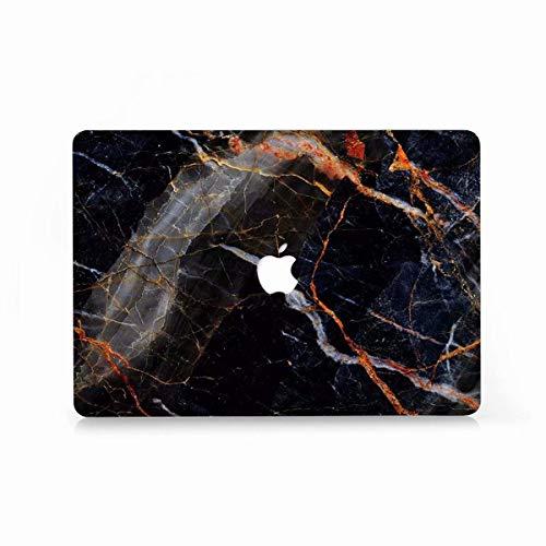 AQYLQ MacBook Schutzhülle/Hard Case Cover Laptop Hülle [Für MacBook Air 13 Zoll: A1369/A1466], Ultradünne Matt Plastik Hartschale Schutzhülle, DL54 schwarzer Marmor