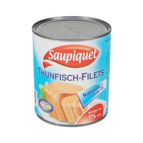 Saupiquet Thunfisch Filetstücke Naturale Dose 800 gr.