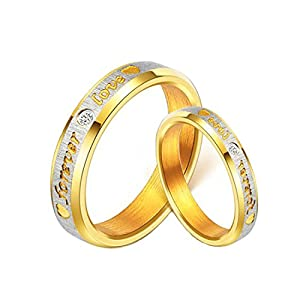 Love Forever Gold Plated Proposal Couple Rings for Girls and Boys by YELLOW CHIMES