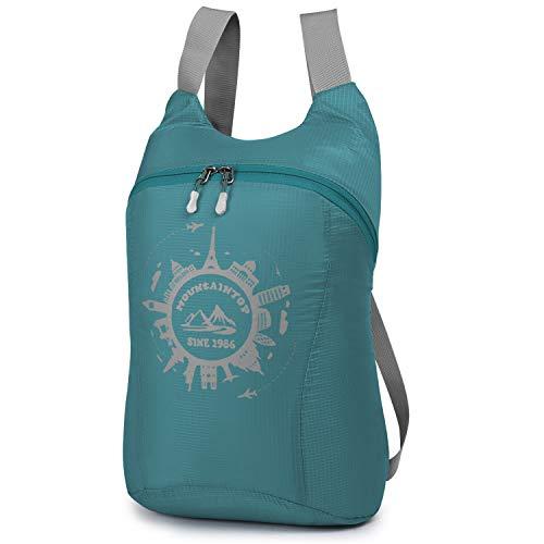 MOUNTAINTOP 10L Unisex Faltbarer Rucksack Leichter Tagesrucksack Handgepäck für Wandern Reisen Outdoor Sport