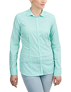 ETERNA Langarm Bluse SLIM FIT gestreift