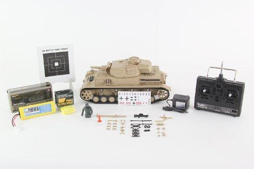 RC Auto kaufen Kettenfahrzeug Bild 2: XciteRC 35511000 Ferngesteuerter RC Panzer Modellpanzer DAK Kampfwagen IV F-1 - Ready to Race Sound and Smoke 1:16, braun*