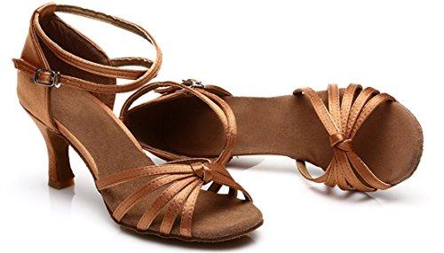 TDA - Peep-Toe donna 7.5cm Brown