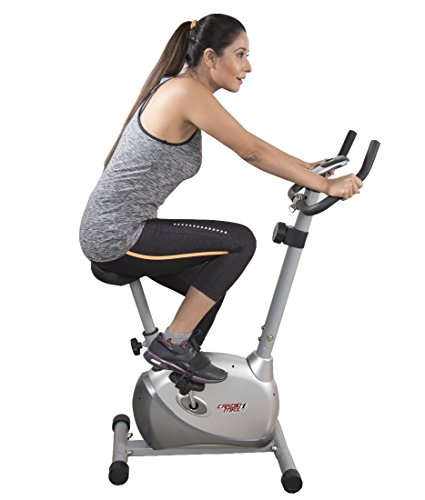 Cardio Max JSB Cardio Max HF73 Magnetic Upright Bike Fitness Exercise Cycle,Silver  available at amazon for Rs.8999