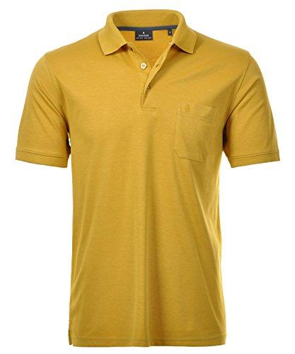 RAGMAN Herren RAGMAN Kurzarm Softknit Poloshirt M, Senf-536 Senf