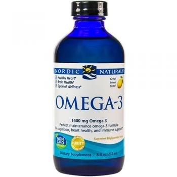 Nordic Naturals - Omega-3 líquido purificado pescado aceite limón - 8 oz.