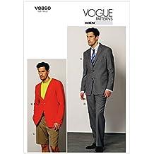 Vogue Patterns V8890 - Patrones de costura para pantalones cortos y largos de hombre