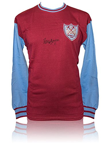 SALE-20-OFF-RRP-GUARANTEED-AUTHENTIC-SRS-032-HAND-SIGNED-SHIRT-WEST-HAM-UNITED-1964-RONNIE-BOYCE-COA
