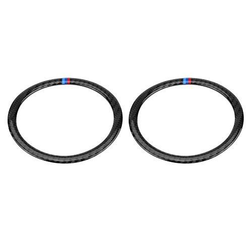 Keenso 2 Stücke Kohlefaser Tür Lautsprecher Sound Ring Abdeckung Audio Lautsprecher Aufkleber Borte(Typ B)