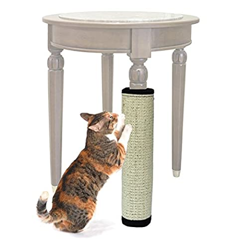 Mixse Natural Sisal Cat Scratch Mat for Walls Wrap Furniture Protector Magic Tape Scratching Pad in Beige