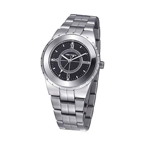 Time Force Reloj Analógico para Mujer de Cuarzo con Correa en Acero Inoxidable TF3398L01M