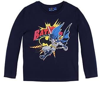 T-shirt manches longues enfant garçon bande dessinée Batman Marine 3ans