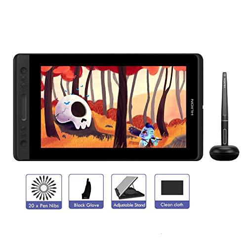 HUION KAMVAS PRO 13 Mobiles grafiktablett mit Display 13,3 batterieloses Stift-Display mit 8192 Stufen Stiftdruck- und Kippfunktion, 4 Expresstasten und 1 Touch-Bar (GT-133)
