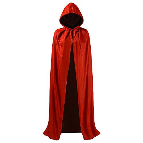 arzes und rotes wendbares Halloween-Kostüm, Weihnachts-Mantel und Maskenball-Partykostüm. (Ups Paket Halloween-kostüm)