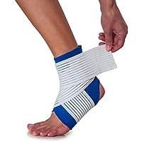 Fussgelenk-Bandage mit Zugband zur Stabilisierung und Entlastung des Knöchels - Blau preisvergleich bei billige-tabletten.eu