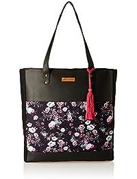 Kanvas Katha Vertical Tote- Digital Women's Tote Bag (Black) (KKVTDP003)