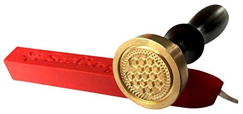 Melt Wachs Stempel, Honeycombe Imker apiarist Honig Bienen Medaille Dichtung und rot Wax Stick xwsc022-kit (S19)